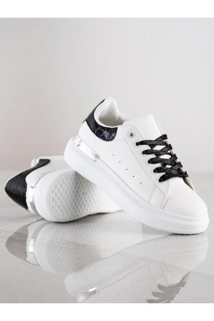 Biele tenisky NJSK F003W/B