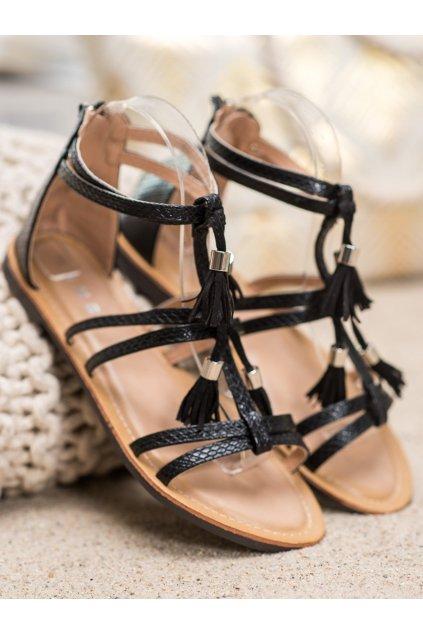 Čierne sandále NJSK JN806B