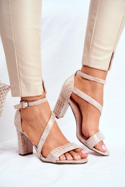 Dámske béžové sandále NJSK SK870