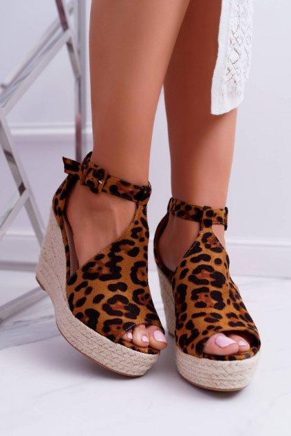 Dámske hnedé sandále NJSK 108-11