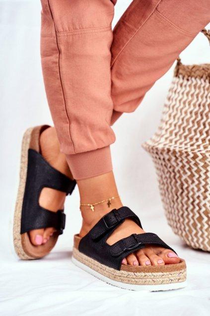 Dámske šľapky farba čierna kód obuvi FF274664 BLK