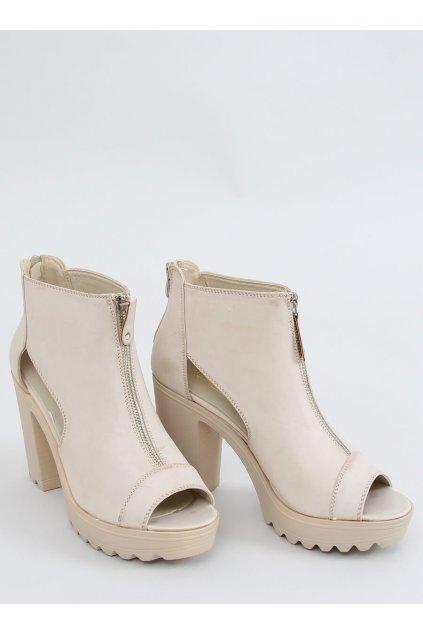 Béžové topánky NJSK 9109