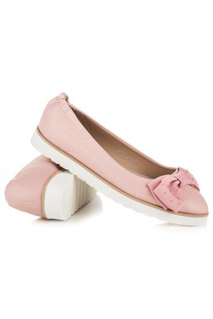 Ružové baleríny s mašľou 1157-20P