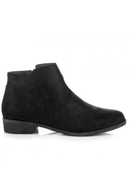 Dámske semišové topánky ql-53a-bl veľ.č. 39 (Veľkosť 42)