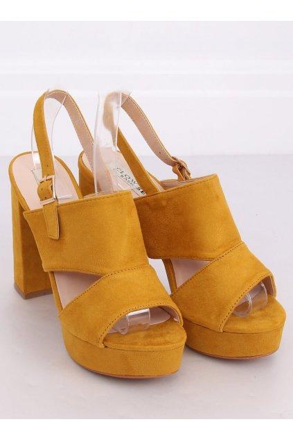 Dámske žlté sandále NJSK 9R02