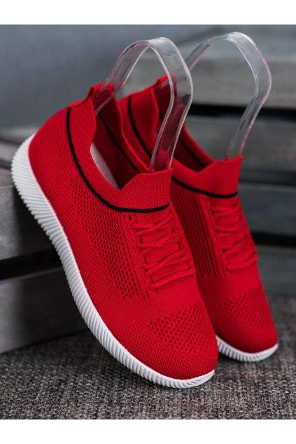 Červené tenisky NJSK MG1511-6R