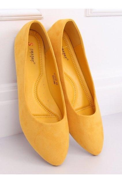 Dámske žlté baleríny NJSK CC212P