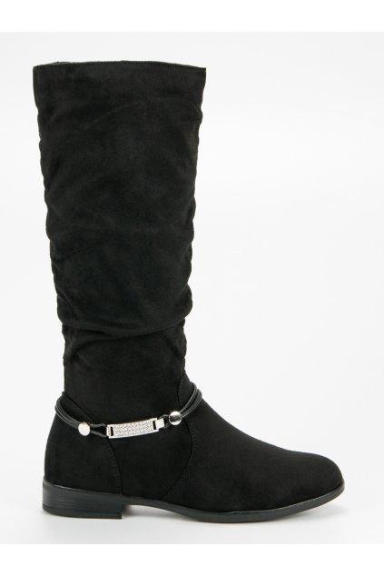 Čierne čižmy pod kolená SDS
