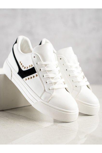Biele tenisky NJSK 1063B