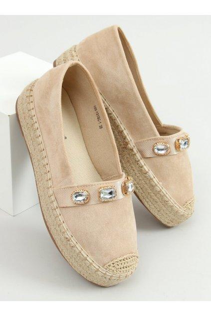 Hnedé sandále na podpätku NJSK 100-131-SC-1