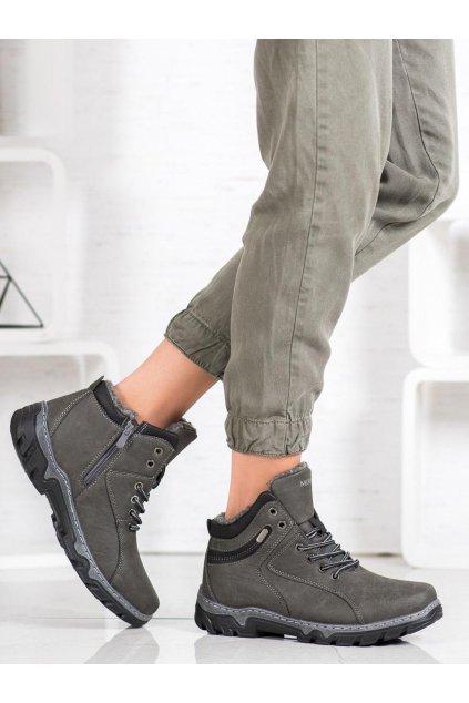 Sivé trekkingové dámske topánky Mckeylor kod OCA20-2156G