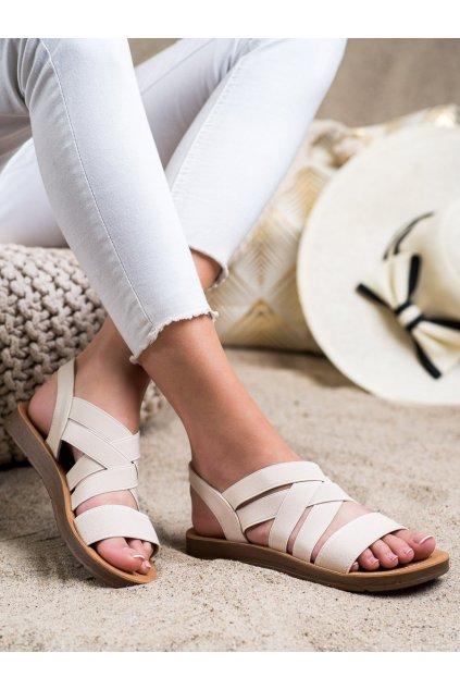 Hnedé sandále Super mode kod 9225BE