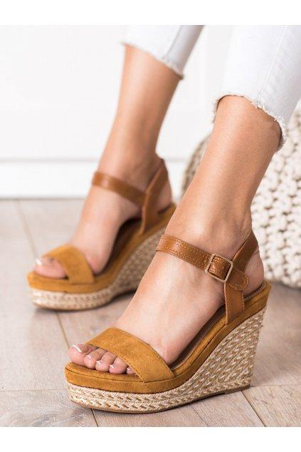 Hnedé sandále Shelovet kod WH-256C