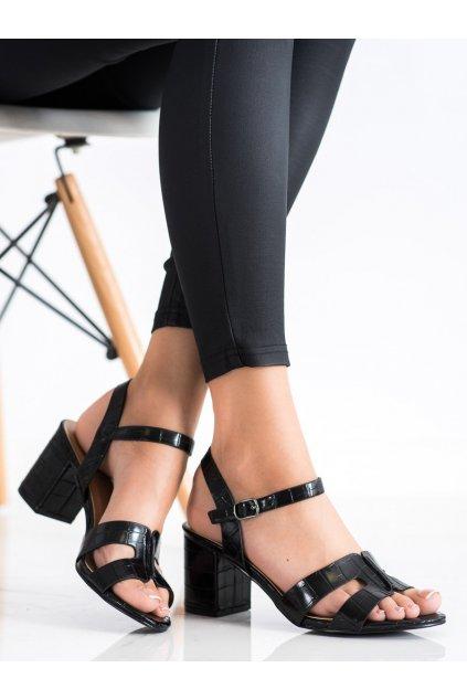 Čierne sandále Cm paris kod 11-06B