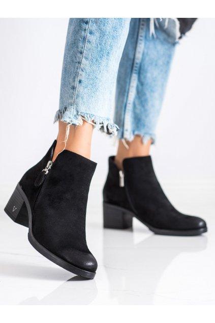 Čierne dámske topánky Vinceza kod XY22-10631B