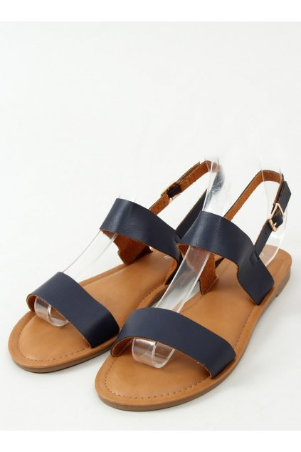 Modré sandále na podpätku NJSK FF-505