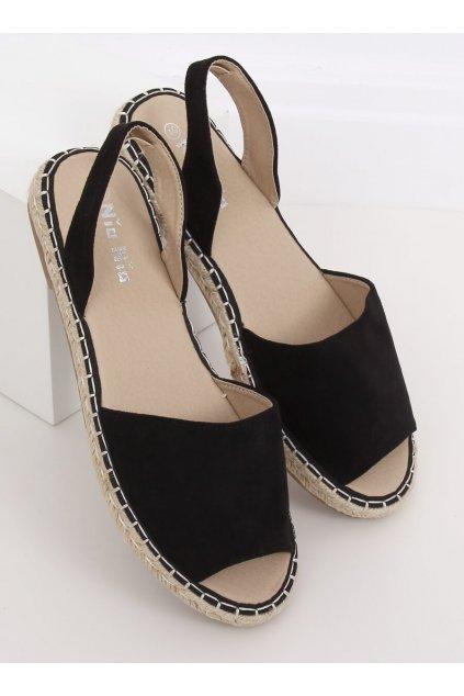 Čierne sandále na opätku NJSK 99-26A