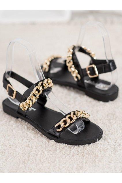 Čierne sandále NJSK NC182B