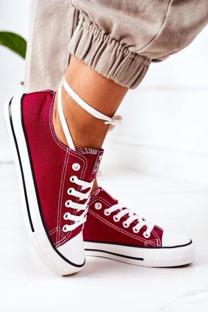 Dámske tenisky farba červená kód obuvi 8SP30-4723 BURGUNDY