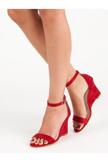 239825 damske cervene semisove sandale na kline q 16r big