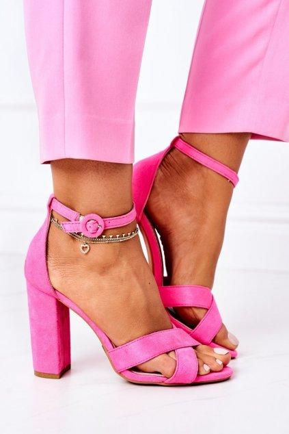 Dámske sandále farba ružová NJSK TU133 FLUO FUCHSIA