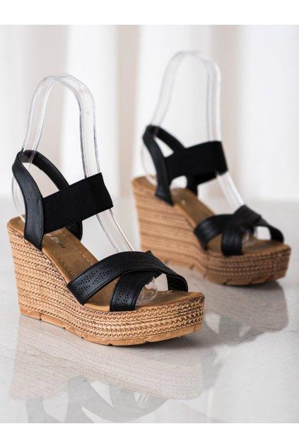 Čierne sandále NJSK 6357B