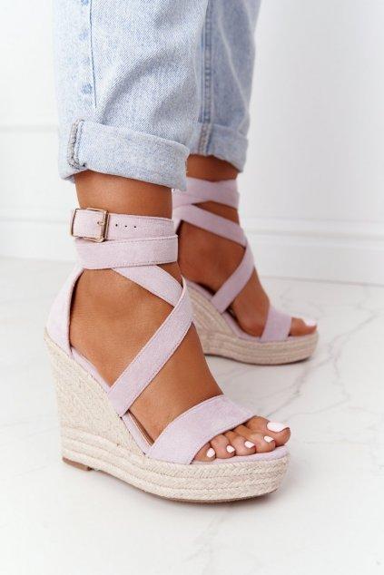 Fialové sandále NJSK BL265-15
