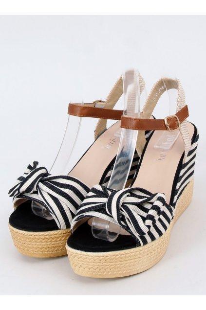 Čierne sandále NJSK A89907