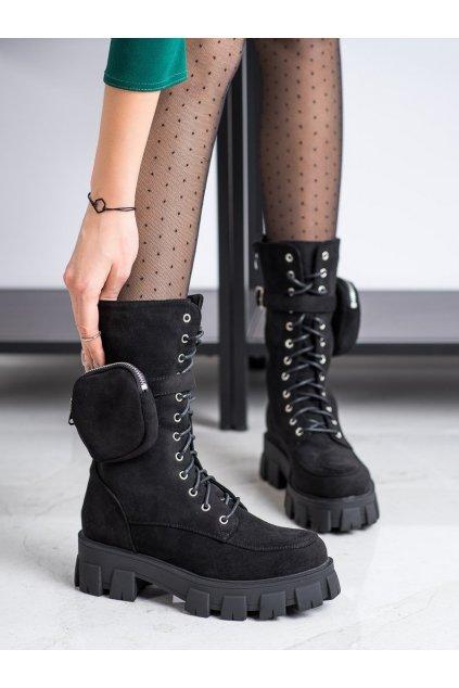 Čierne dámske topánky NJSK NC1111B