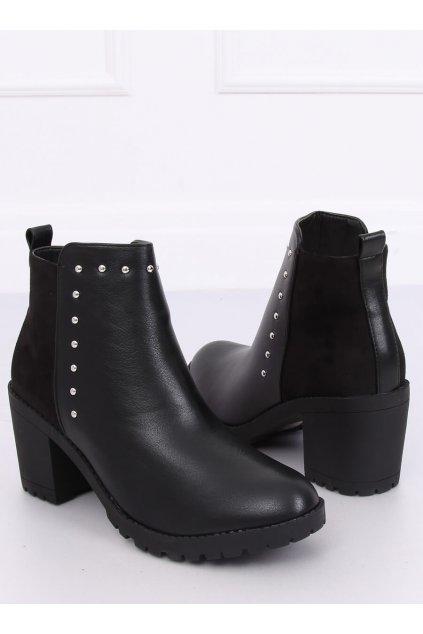 Čierne topánky NJSK Y8163