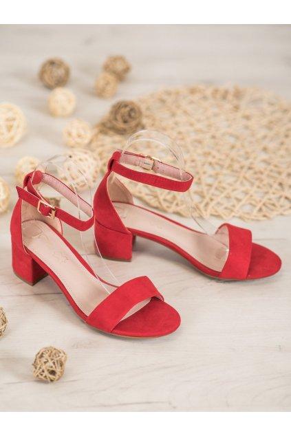 Červené sandále NJSK 20SD98-1618R