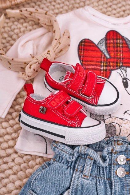 Červené tenisky NJSK HH374202 RED
