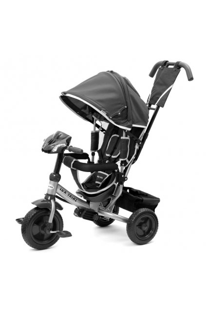 Detská trojkolka so svetlami Baby Mix Lux Trike tmavo sivá