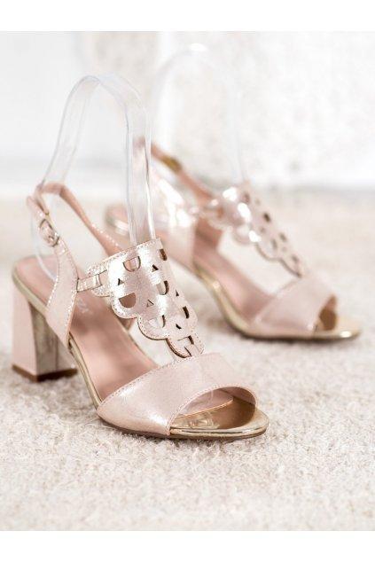 Zlaté sandále NJSK YQE20-17080GO