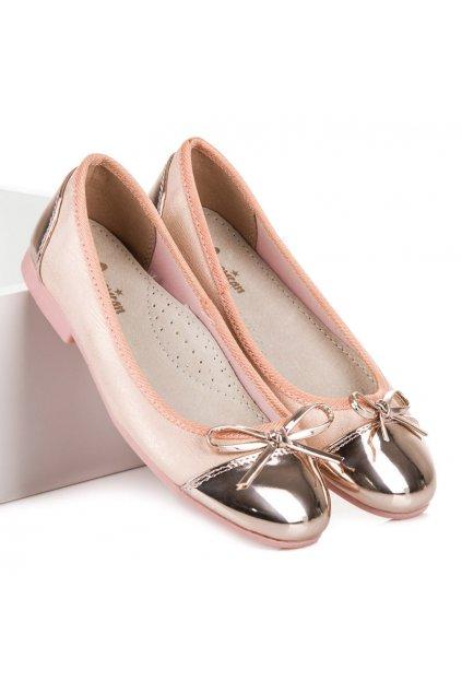 Detské ružové baleríny American Club