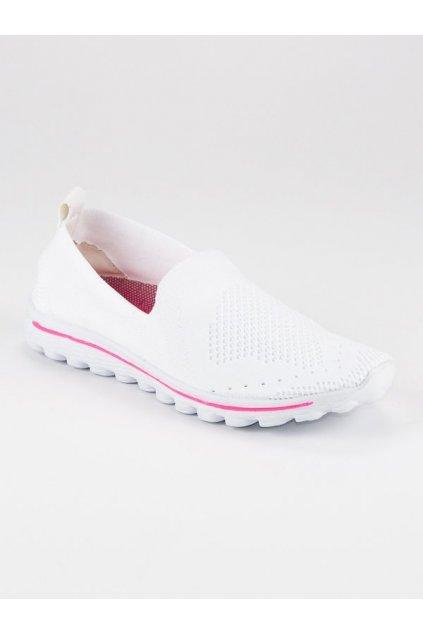 238188 damske biele textilne tenisky anh18 13504w big