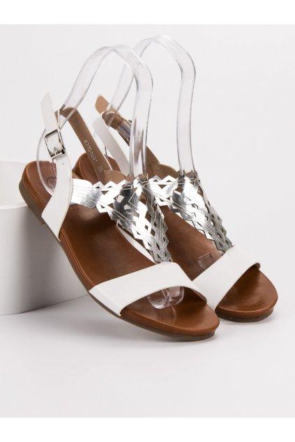 Biele sandále NJSK K1951601BLA