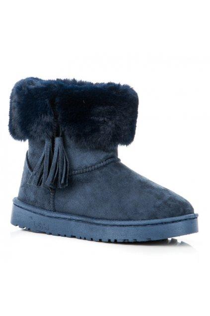 213933 damske modre snehule so strapcami fc229bl big
