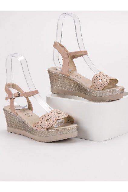 Hnedé sandále NJSK A119-04-02NU
