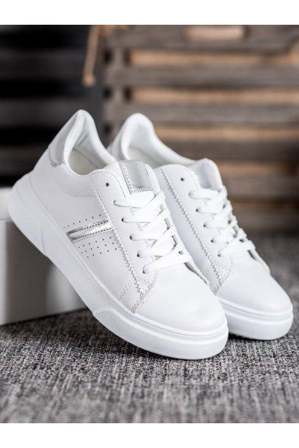 Biele tenisky NJSK 85-423W/S