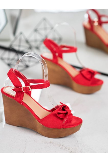 Červené sandále NJSK HY8542R