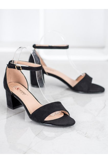 Čierne sandále NJSK F188B/B