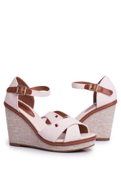 Béžové sandále NJSK R133P