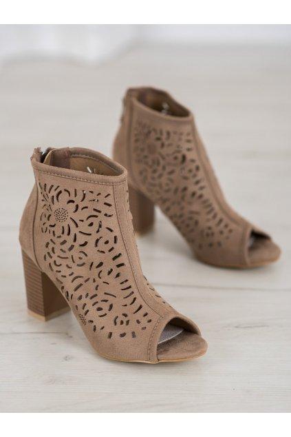 Hnedé topánky NJSK LE20-20120BE