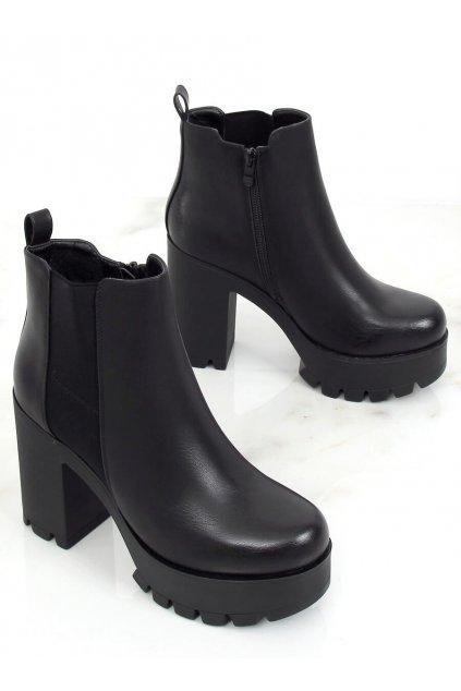 Čierne členkové topánky NJSK RB40P