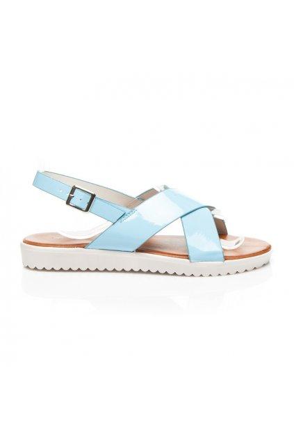 terndy sandale v pastelove modre barve na bile vyssi platforme i18622