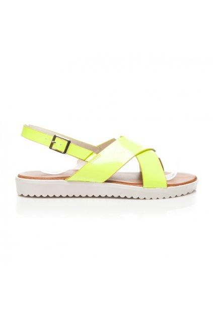 terndy sandale v pastelove zlute barve na bile vyssi platforme i18458