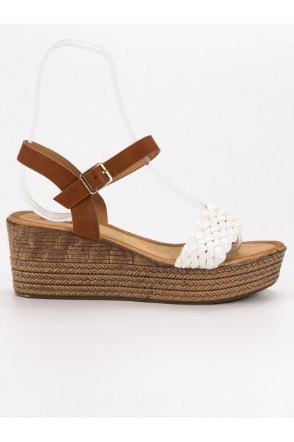 Béžové dámske sandále na platforme Seastar G185W