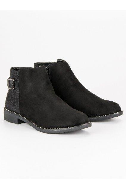 Nízke dámske čierne topánky 3118B