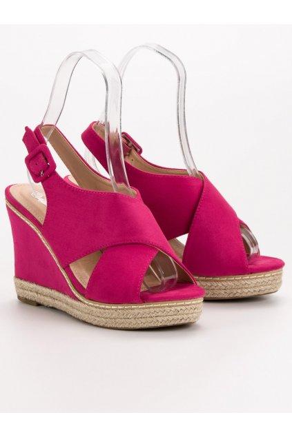 Ružové dámske sandále na platforme Anesia paris 66-368FU